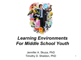 Organic Middle School Youth Program Model - 4