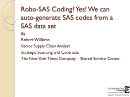 Yes! We can auto-generate SAS codes from a SAS data set