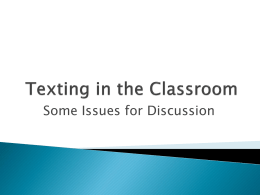 Texting in the Classroom