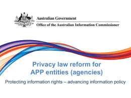 agencies - Office of the Australian Information Commissioner