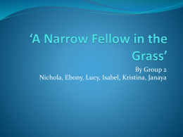 A Narrow Fellow in the Grass` powerpoint