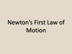 Newton`s 1st Law of Motion