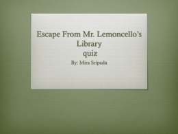 Escape From Mr. Lemoncello*s Library - cooklowery14-15