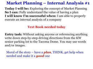 1 - Internal Analysis