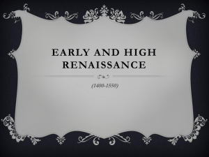 Early and High Renaissance lesson ppt