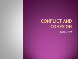 Conflict and cohesion