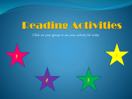 Reading Activities - EmeraldPrimarySchoolGrade6