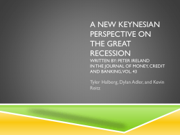 A New Keynesian Perspective on the Great Recession