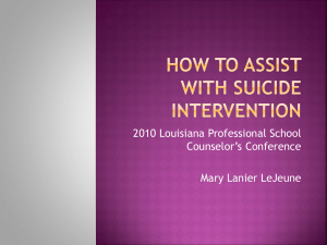 How to ASSIST with Suicide Intervention