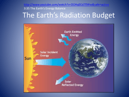 The Earth*s Radiation Budget