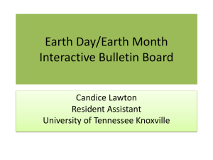 Earth Day/Earth Month Interactive Bulletin Board