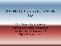 SS7H2d- U.S. Presence in the Middle East