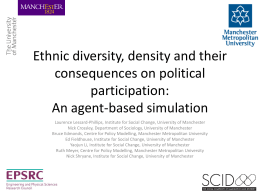 Ethnic diversity, density and their consequences on political