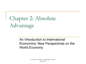 Chapter 2 - An Introduction to International Economics