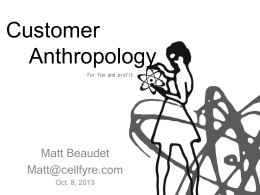 Customer Anthropology v2