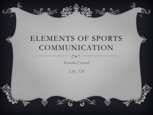 Elements of Sports Communication