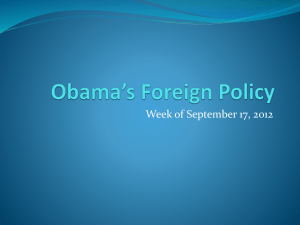 Obama*s Foreign Policy
