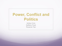 Session Ten - Power, Conflict and Politics