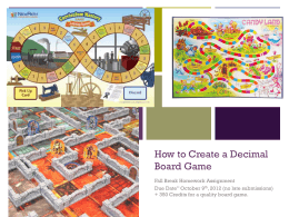How to Create a Decimal Board Game