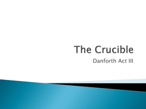 The Crucible Danforth Analysis