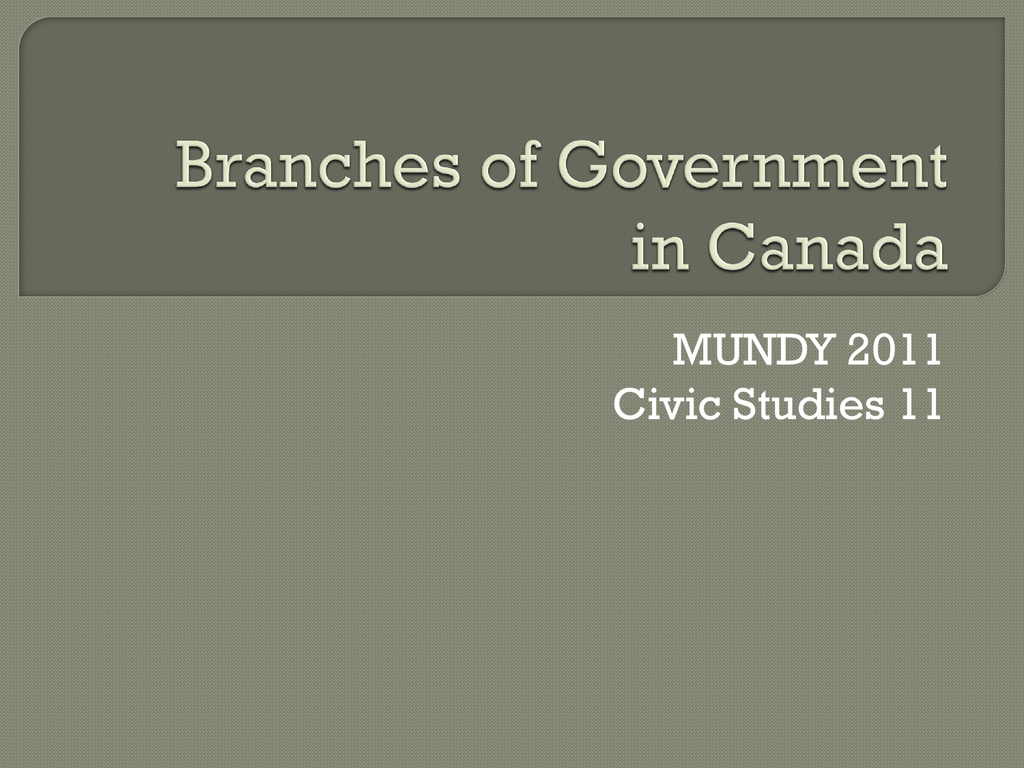 executive branch canada members