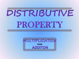 Teacher-Led Distributive Property PowerPoint