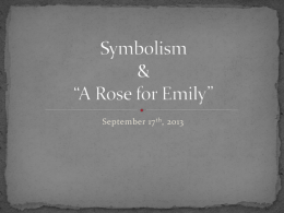 rose for emily marxist