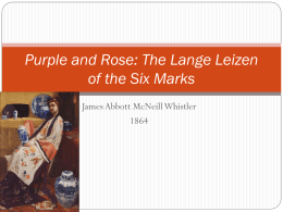 Purple and Rose: The Lange Leizen of the Six Marks