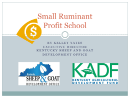 Small Ruminant Profit School PPT