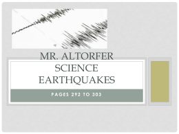 Earthquakes - Fair Lawn Public Schools