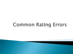 Common rating errors