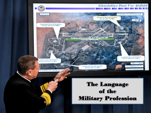 Language of the Military Profession