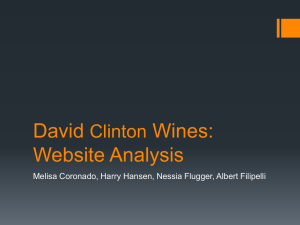 David Clinton Wine Cellars: Website Analysis