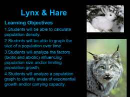 Powerpoint on Lynx & Hare lynx_hare_powerpoint