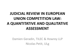 JUDICIAL REVIEW IN EUROPEAN UNION COMPETITION LAW: A