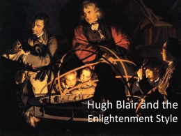 Hugh Blair and the Enlightenment Style