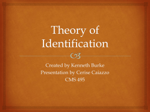 Theory of Identification