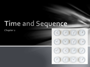 Time and Sequence