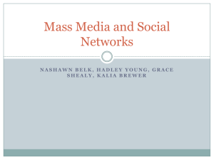 Mass Media and Social Networks