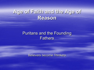 Age of Faith VS. Age of Reason