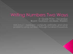 Writing Numbers Two Ways