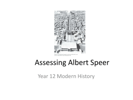 Assessing Albert Speer