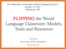 Flipping the World Language Classroom