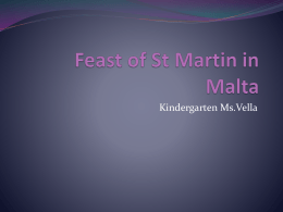 Feast of St Martin in Malta