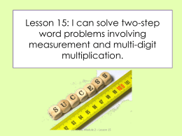 Lesson 15: I can solve two-step word problems