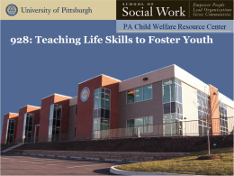 928: Teaching Life Skills to Foster Youth