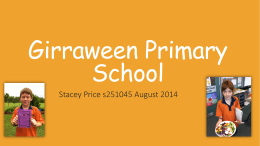 Professional Experience 3: Girraween Primary School