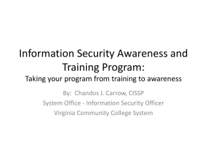 Information Security Awareness and Training Program: Taking your