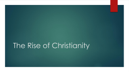 The Rise of Christianity in Rome