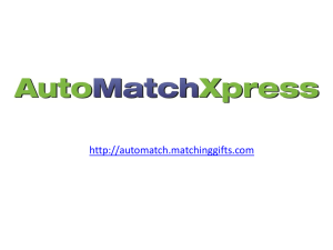 AutoMatchXpress PowerPoint Demo